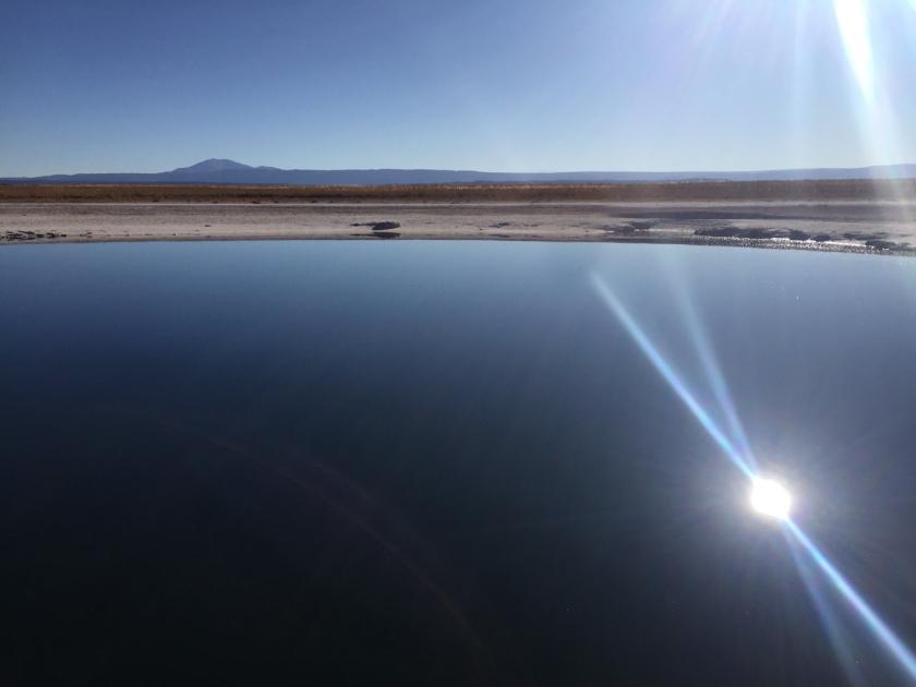 Sol sobre a Laguna Piedra