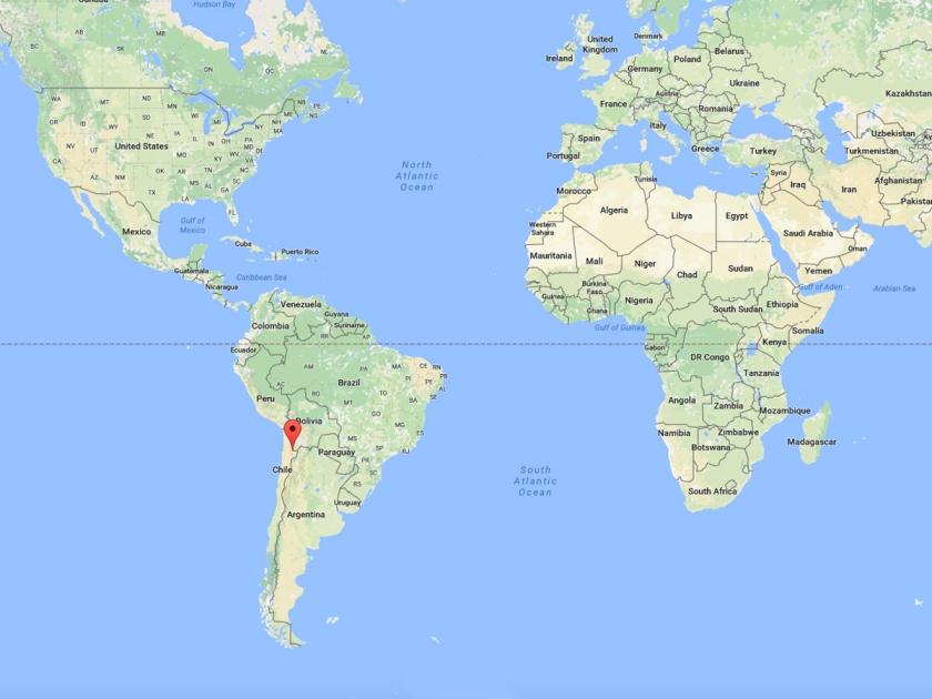 Localização de San Pedro de Atacama