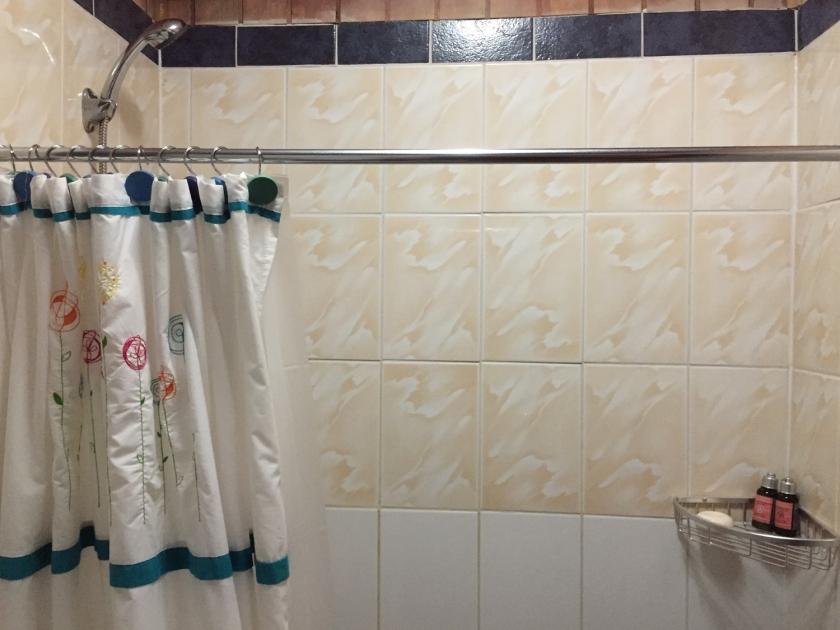 Banheiro com cortina