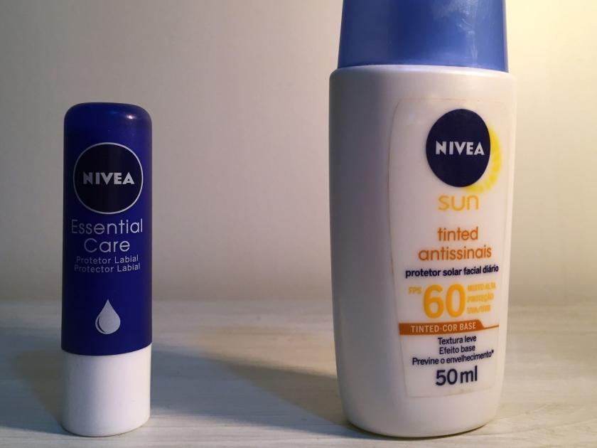 Protetor solar para pele e lábios
