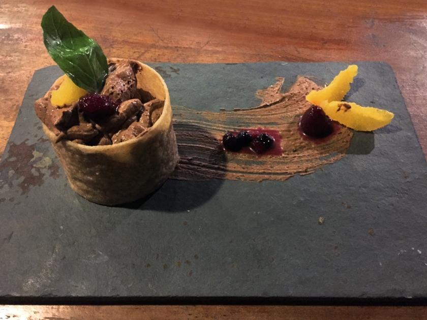 Mouse de chocolate abahaca