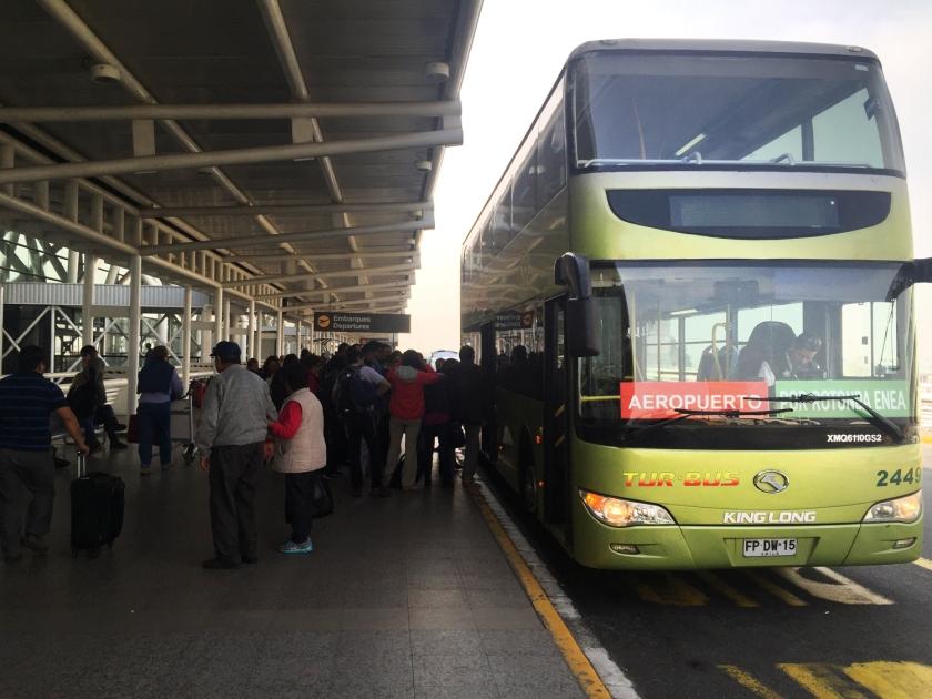 Ônibus entre Santiago e o aeroporto