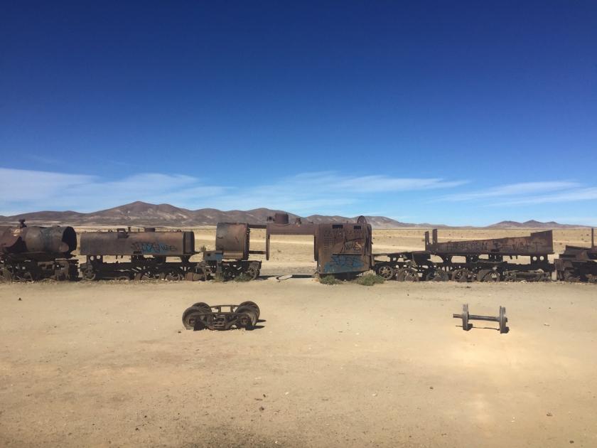 O deserto visto do Cementerio de Trenes