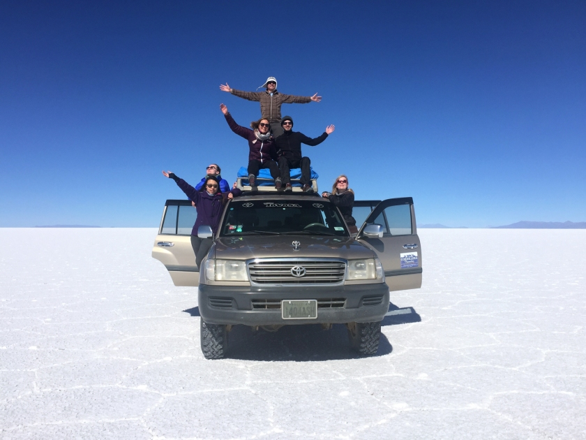 Foto do grupo no Jeep 4x4