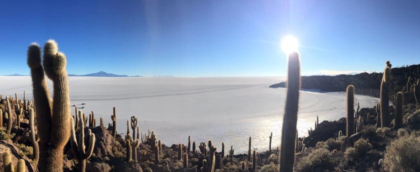 Vista paronâmica do Salar de Uyuni