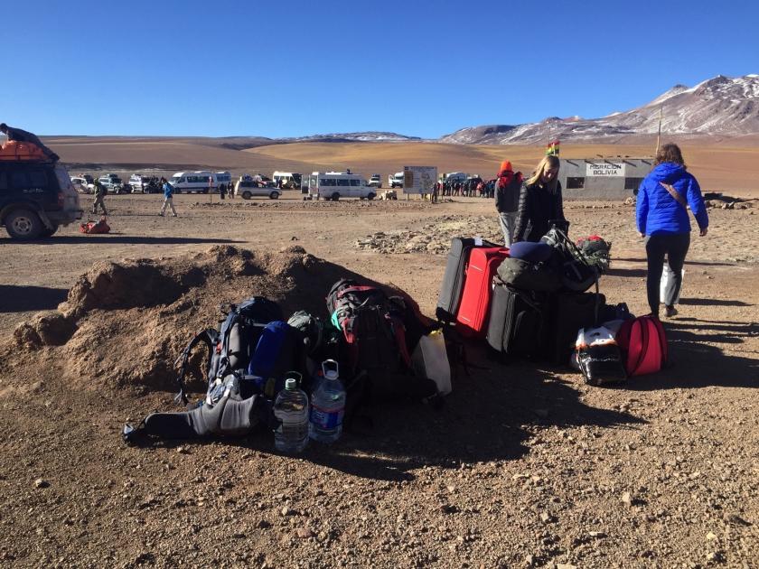 Malas separadas por grupos de viagem