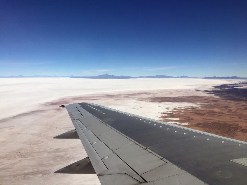 Salar de Uyuni visto do avião