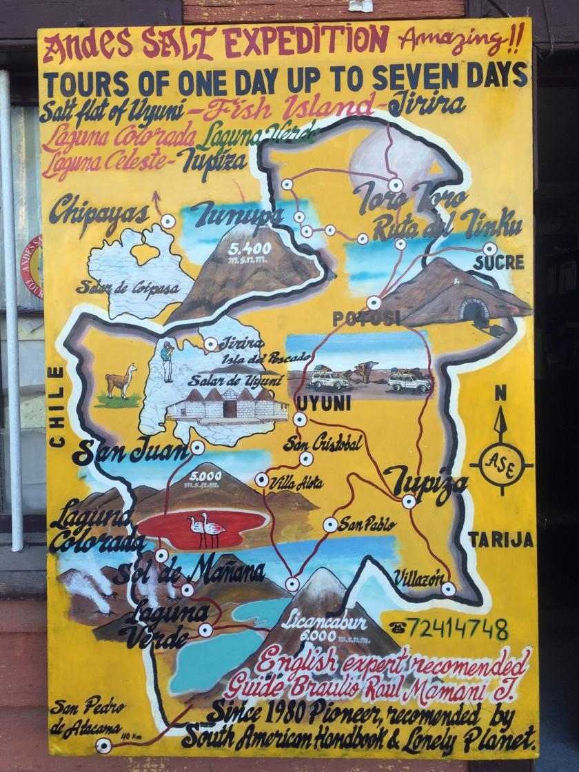 Placa em agência de turismo