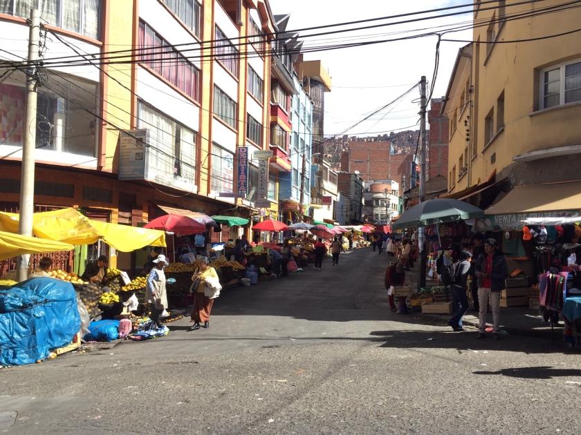 Barraquinhas em mercado informal