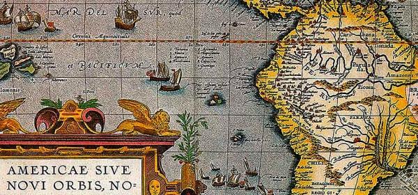 Mapa antigo da América