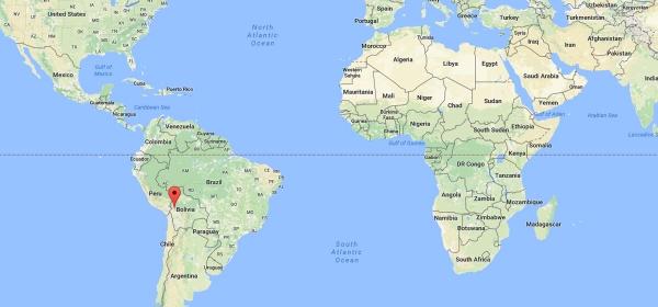 Localização de La Paz no Mapa Mundi