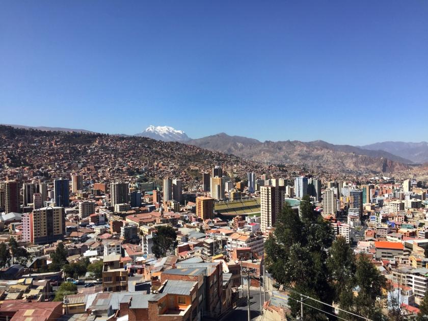 Vista de La Paz a partir do Mirador Killi Killi