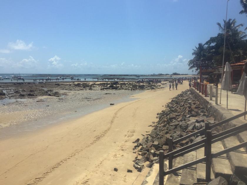 Saída dos barcos na Terceira Praia