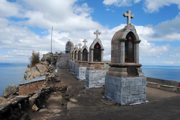 Monumentos no topo do Cerro Calvario