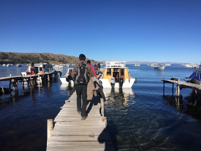 Embarcando rumo à Isla del Sol