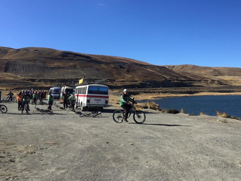 Experimentando a bicicleta em Lo Cumbre