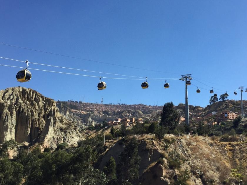 Linha amarela do teleférico de La Paz