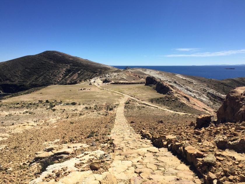 Início da caminhada no norte da ilha