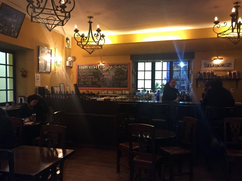 Interior no estilo pub