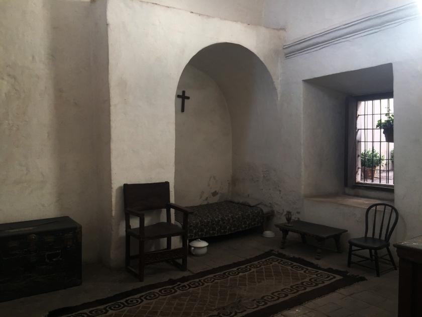 Cela onde dormia uma das freiras