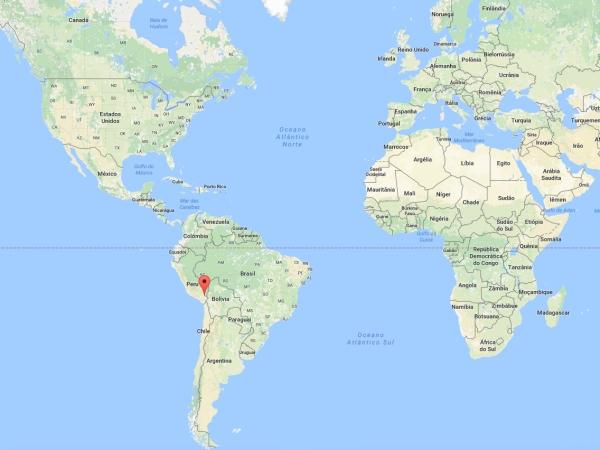 Localização de Puno no Mapa Mundi