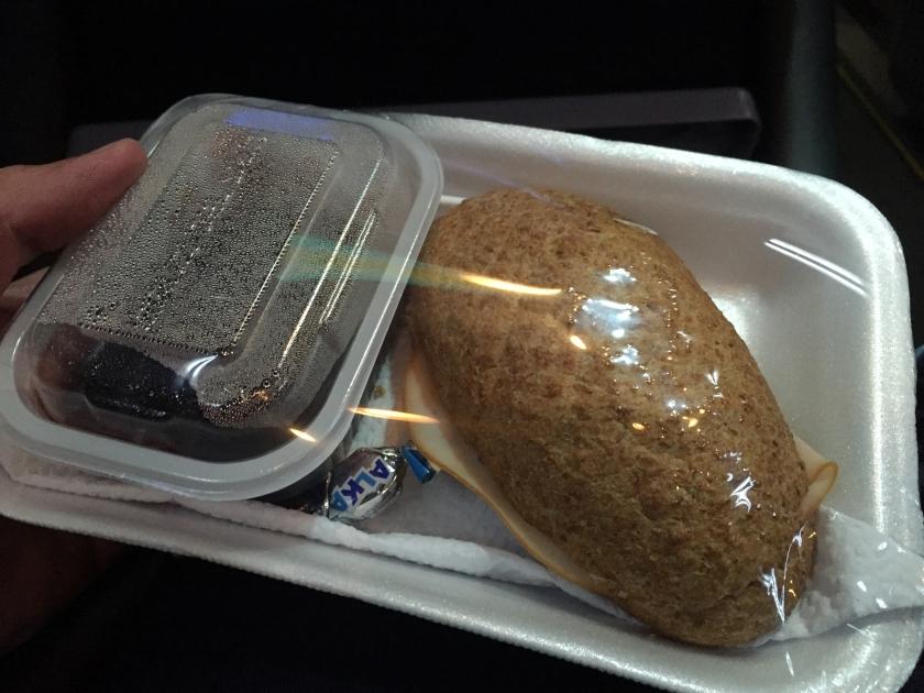 Jantar servido no ônibus