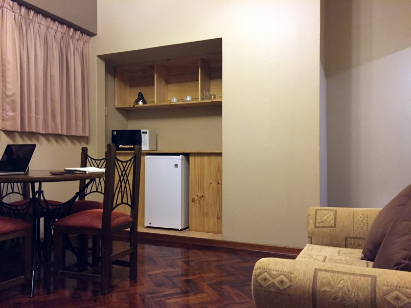 Sala de estar do apartamento