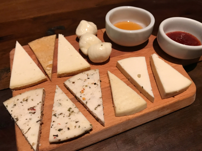Seleção de queijos artesanais