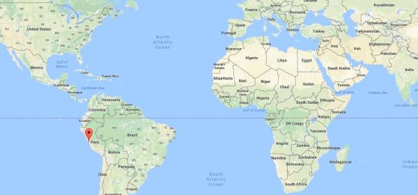 Localização de Lima no Mapa Mundi