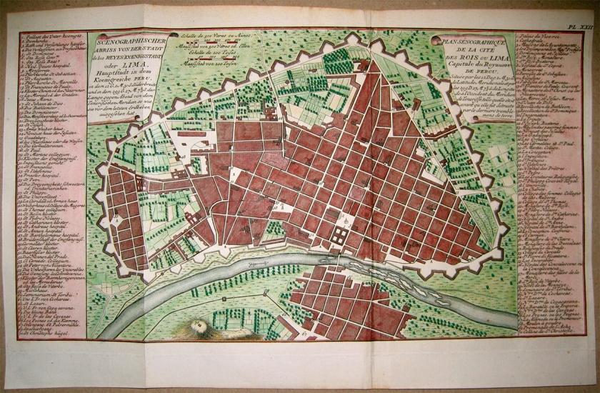 Mapa de Lima em 1750
