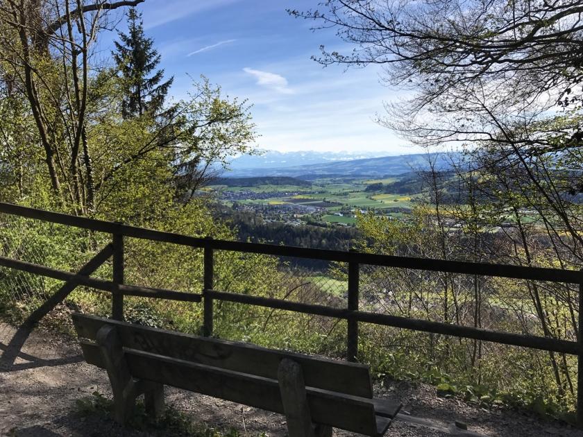 Banco com vista para a paisagem