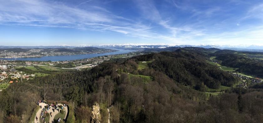 Vista panorâmica de cima da torre
