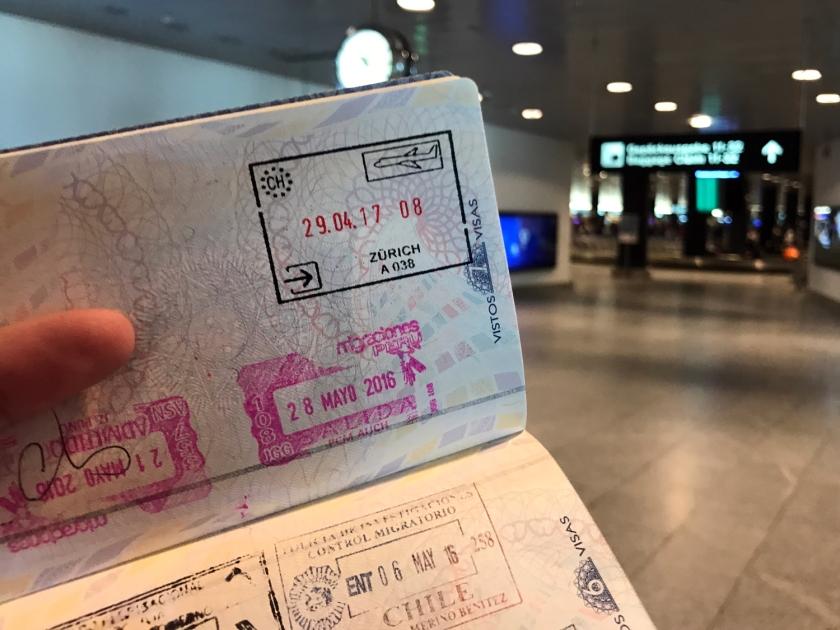 Mais um carimbo no passaporte