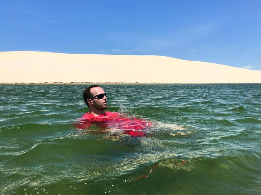 Banho na Lagoa da Capivara