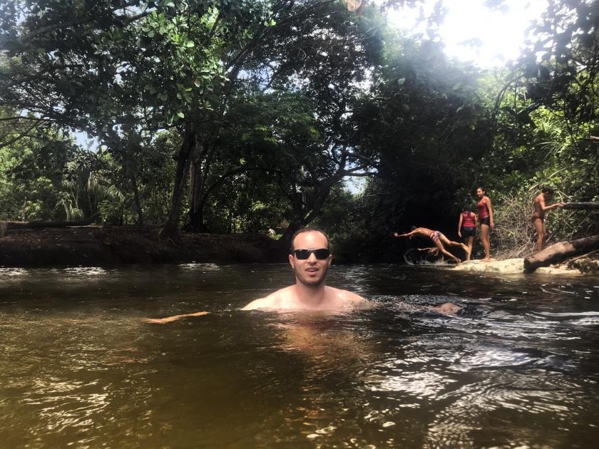 Banho no rio Formiga