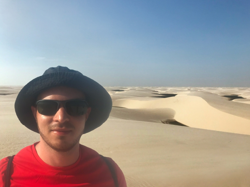 Vista de cima das dunas