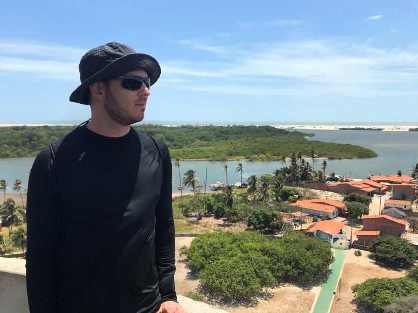 Vista do farol da Ilha de Mandacaru