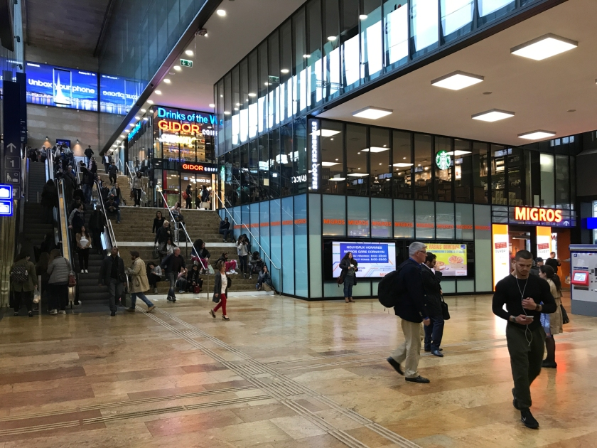 Lojas na estação de trens