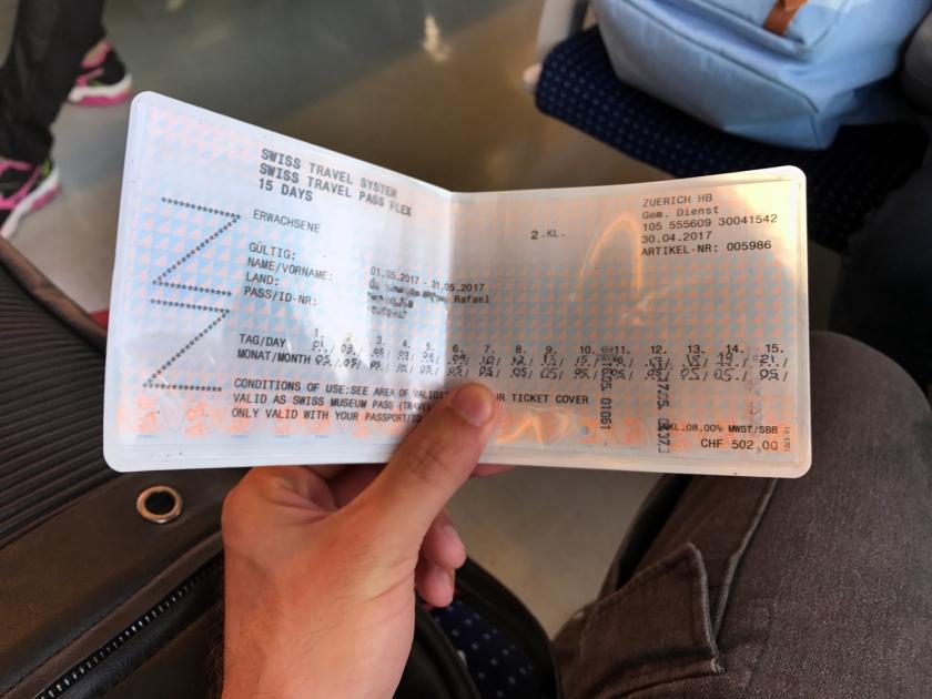 Swiss Travel Pass de 15 dias não consecutivos