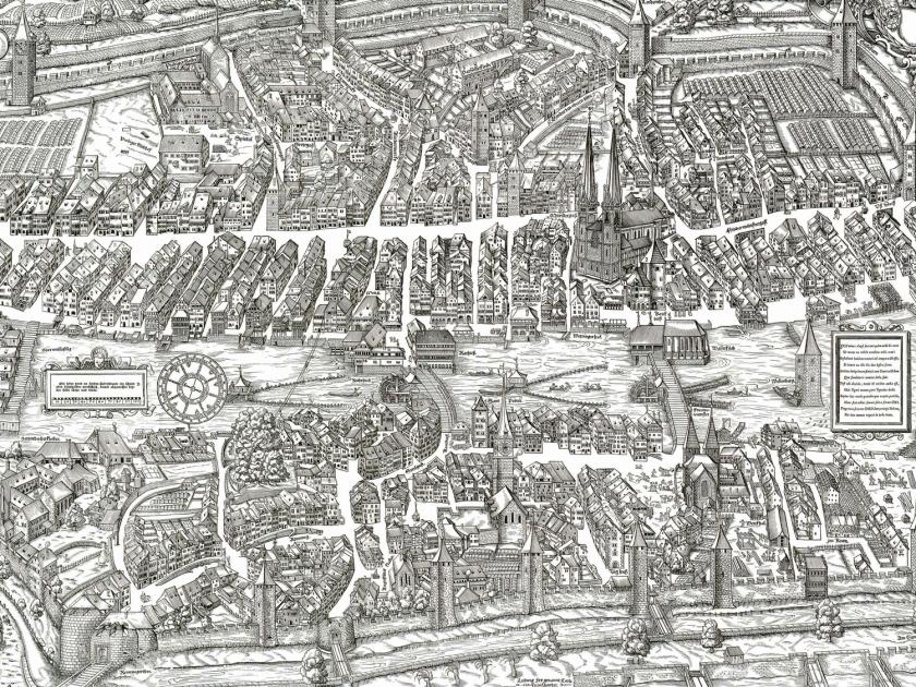 Cidade medieval, em 1576