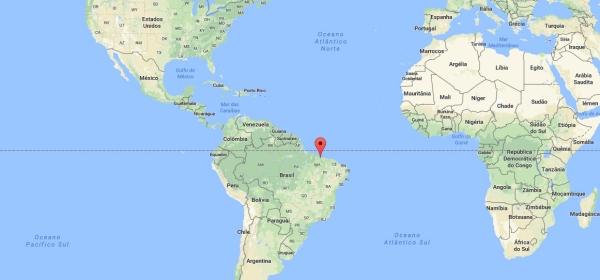 Localização de São Luís no mapa mundi