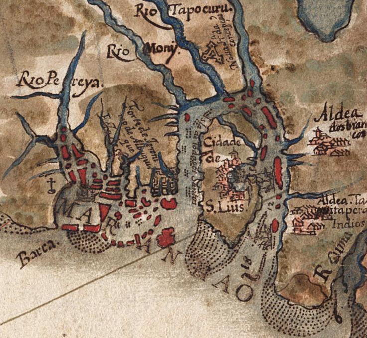 Mapa de São Luís em 1629