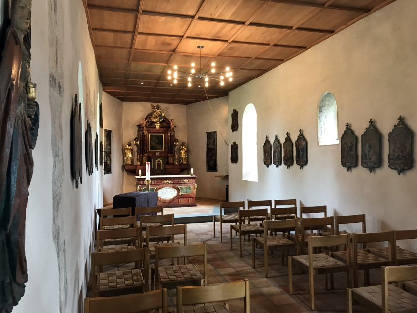 Parte interna da Galluskapelle