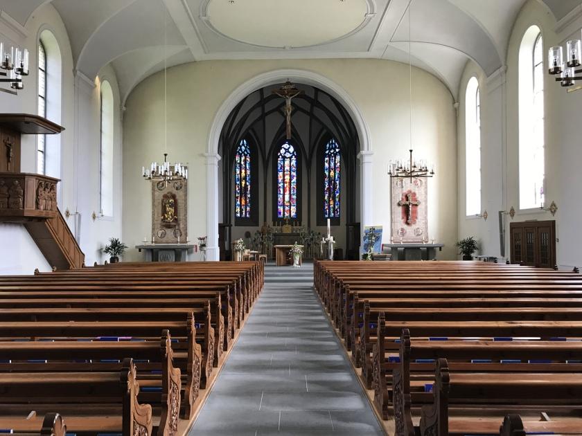 Parte interna da Kirche St. Martin