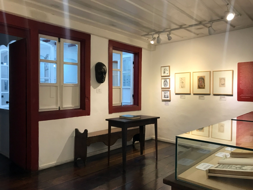 Exposição das obras do artista