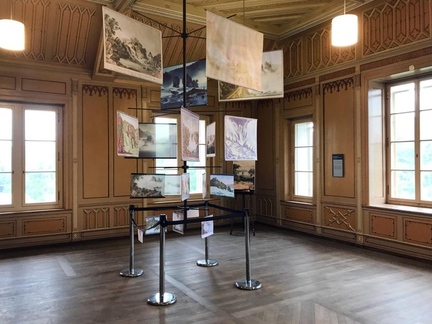 Exposição da história do castelo e das cataratas