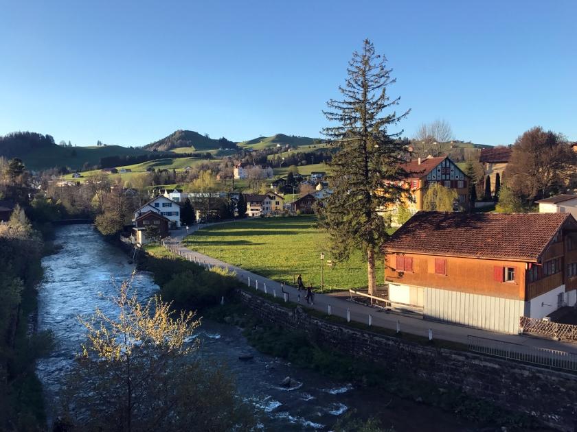 Vista da parte rural da vila