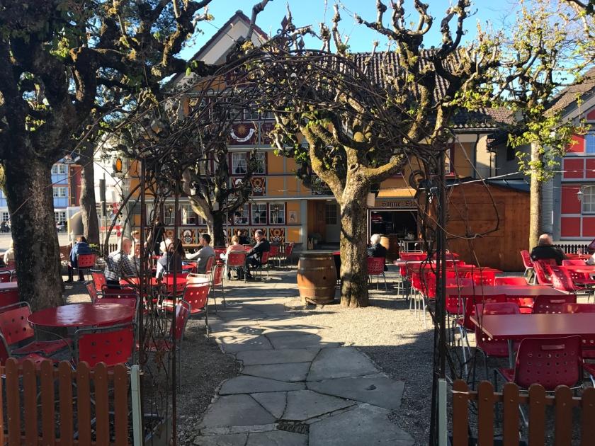 Biergarten, a área externa do restaurante