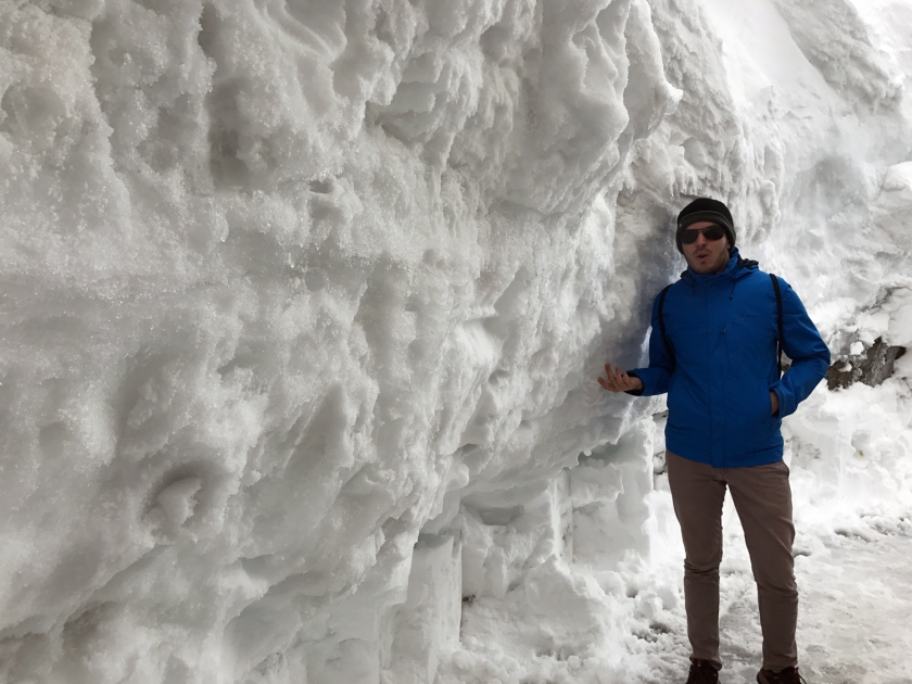 Montanha de gelo e muito frio