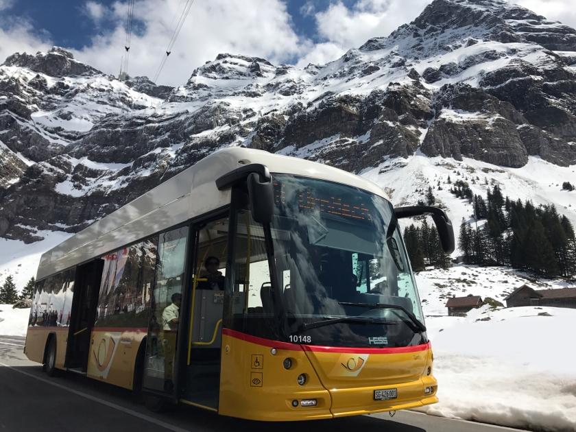 Ônibus que faz o trajeto para a estação